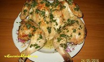 запеченная курица в чесночном соусе
