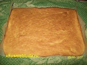 бисквит с тыквой