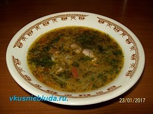 бобовый суп с кореньями
