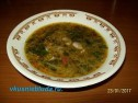 Суп с бобами и кореньями.