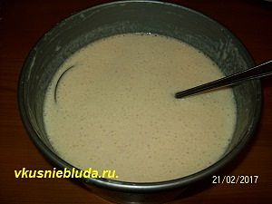 тесто дрожжевое блинное