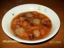 Чечевичный суп с тыквой.