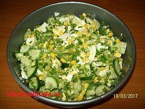рецепт салата с черемшой