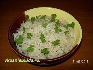 рецепт салата с дайконом