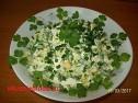 Весенний салат с черемшой.