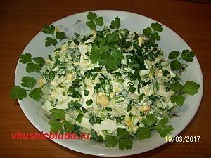 весенний салат с черемшой