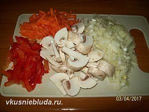 нарезка овощей для гречки