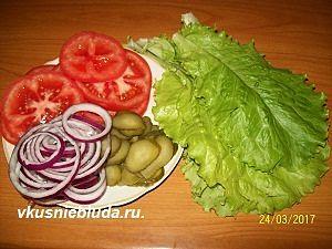 овощи для гамбургеров