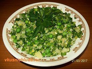 рецепт постного салата с черемшой