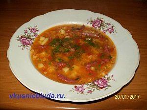 рецепт супа с красной чечевицей