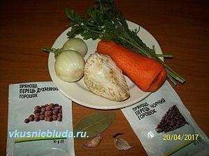 ингредиенты для рыбного бульона