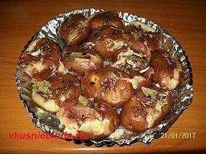 картофель с розмарином тимьяном
