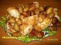 Курица с картошкой в духовке.