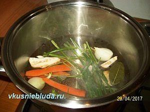 овощи для рыбного бульона