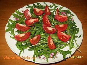 руккола помидоры
