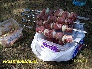 шампура с мясом