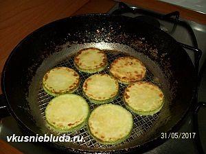жареные кабачки для закуски