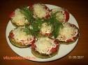Жареные кабачки с помидорами.