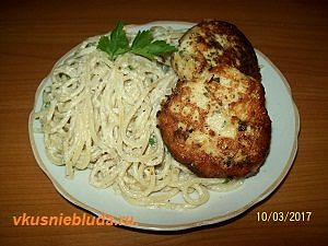 куриные котлеты со спагетти