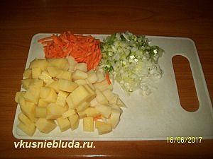 нарезка овощей для борща