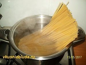 спагетти для карбонара