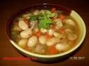 Суп из белой фасоли.