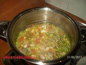 суп из королевской фасоли