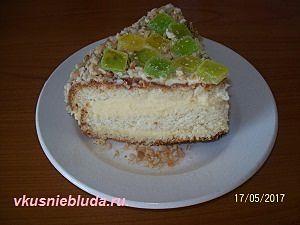 домашний бисквитный тортик