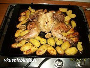 курочка с картофелем в духовке