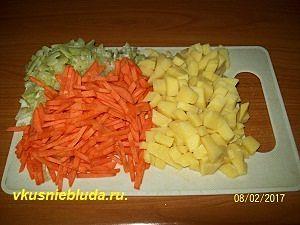 овощи для супа из хвоста