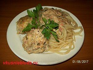 рыбные тефтели со спагетти