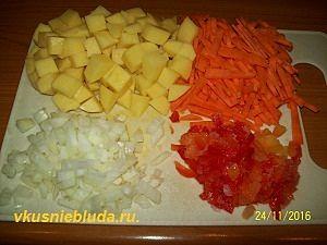 овощи для чечевичного супа