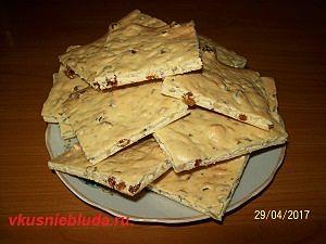 хрустящее печенье с изюмом