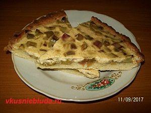 песочный пирог с ревенем