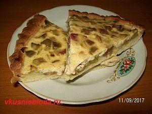 пирог песочный с ревенем