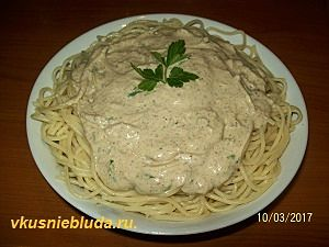 ореховый соус для спагетти рецепт