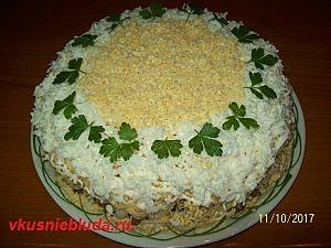 рецепт салата с фасолью и колбасой