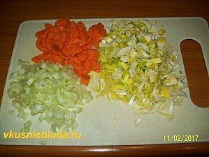 нарезка моркови порея сельдерея