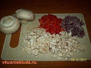 нарезка овощей для начинки