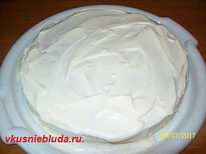 собираем торт рыжик