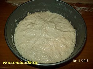 тесто дрожжевое для пирога