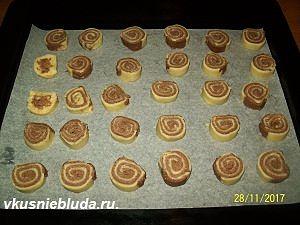 формируем двухцветное печенье