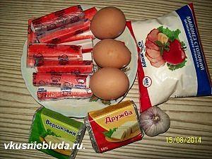 крабовые палочки сыр яйца