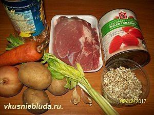 перловка мясо овощи