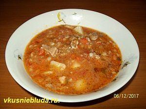 вкусный суп с перловкой