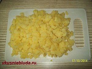 картофель кубиками для салата