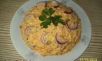 овощной салат с селёдкой