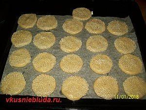 рецепт печенья с кунжутом