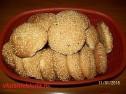 Вкусное печенье с кунжутом.