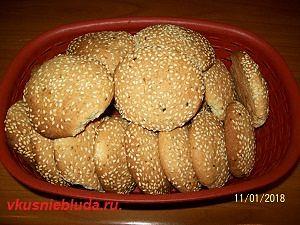 вкусное печенье с кунжутом